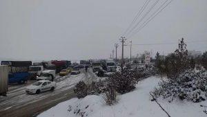ترافیک سنگین در مسیر سقز بوکان