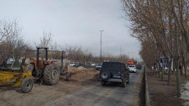 ترافیک در بلوار بانه به دلیل حفاری، کماکان برقرار است